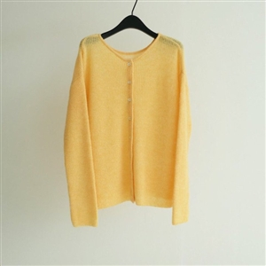 Cezan Wool Hair Cardigan (Ivory/Brown/Black/Yellow) (will ship within 1~2 weeks)