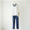 Navy Skinny Pants (9부) (Navy/Black) (S/M/L)