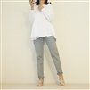 (3rd Reorder; Our Choice) SkyBlue Luxury Coating Cotton Back Button Pants (M)