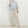 Beige Linen String Pants