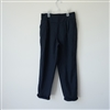Navy Linen Baggy Pants