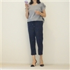 (3rd Reorder) Navy Slim String Pants (8부) (S)