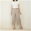 Beige Formal Wide Pants