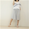 GraySkyBlue Pleated Skirt Pants