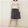 Charcoal Pleated Skirt Pants