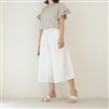 White Linen Wide Pants