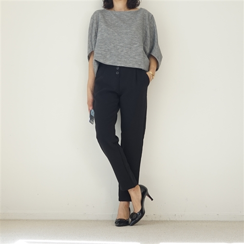 Black Front Button Formal Pants (W/S)