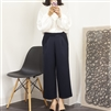 Navy Formal Pintuck Pants