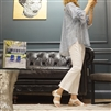 (Best; 2nd Reorder) White Boot Cut Summer Cotton Pants (Free/Large)