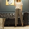 (Best; 2nd Reorder) Linen Big Check Pants