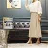 (Best; 2nd Reorder) Beige Black Label Linen Skirt Pants