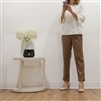 (Best; 2nd Reorder) Beige Side Vent Semi Formal Pants (프라다 원단)