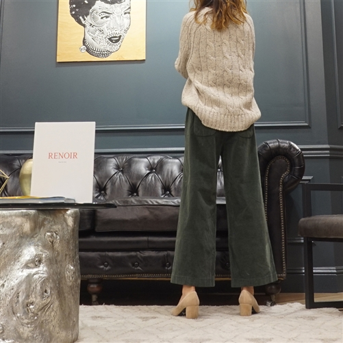 (Best; 3rd Reorder) Green Button Corduroy Pants