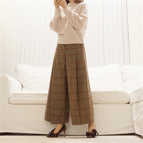 (Best; Back-Order; 2nd Reorder) Brown Line Check Pants (will ship within 1~2 weeks)