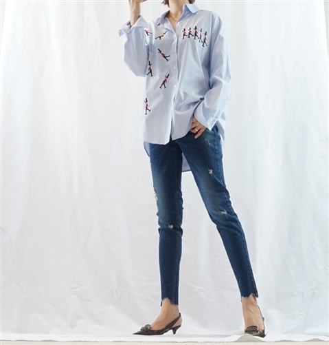 (Best; Back-Order; 2nd Reorder) Skinny Jeans (S/M/L) (will ship within 1~2 weeks)