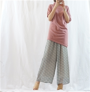 (Best; 2nd Reorder) Pink Chiffon Color Pants