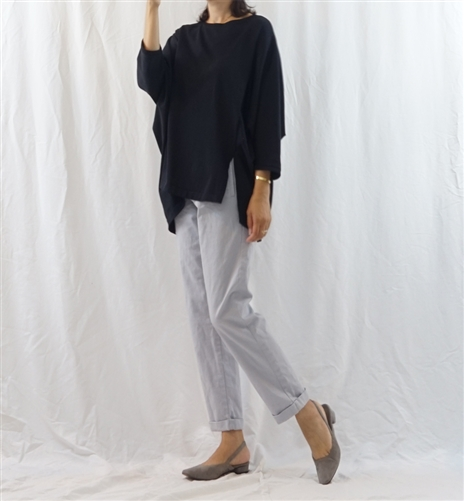 (Best; 3rd Reorder) SkyBlue Cotton Cabra Pants (S)