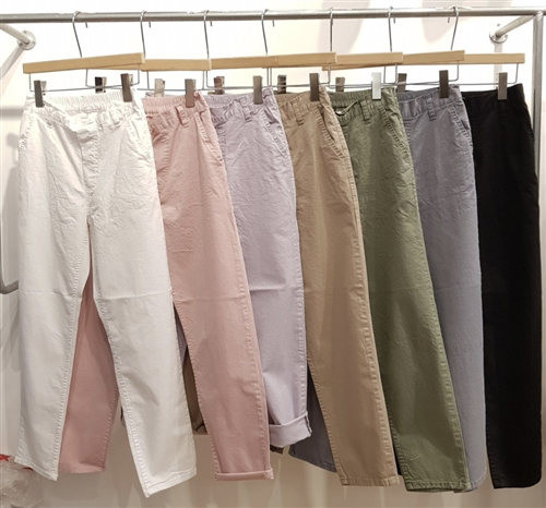 (Pre-Order) Good Cotton Color Pants (White/Pink/Lilac/Beige/Khaki/Gray/Black) (S/M/L) (will ship within 1~2 weeks)