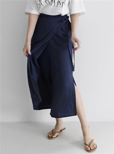 (Best; Back-Order; 2nd Reorder) Navy Skirt Pants (will ship within 1~2 weeks)