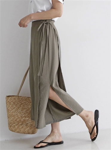 (Best; Back-Order; 2nd Reorder) Khaki Skirt Pants (will ship within 1~2 weeks)