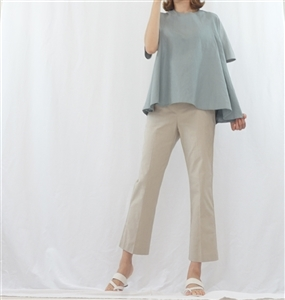 (Best; 3rd Reorder) Beige Linen Formal Pants (S)