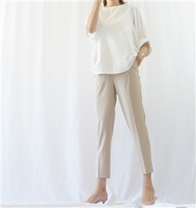 (Best; 3rd Reorder) Beige Bottega Formal Pants (S)