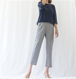 (Best; 3rd Reorder) Gray Summer Side Zipper Formal Pants