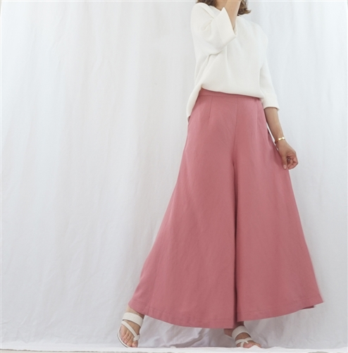(Best; 2nd Reorder) IndiPink Linen Skirt Pants