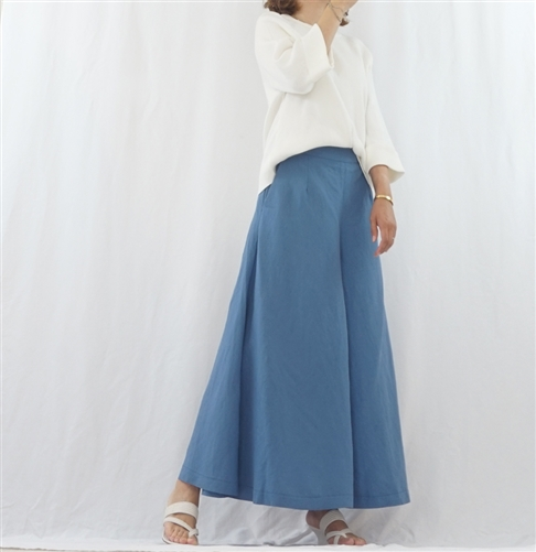 (Pre-Order) Purple Linen Skirt Pants (will ship within 1~2 weeks)