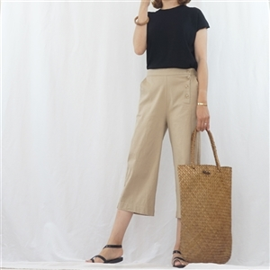 (Best; 3rd Reorder) Beige Side Button Pants (F)
