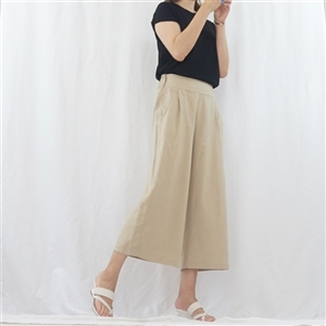 (Best; 3rd Reorder) Beige Skirt Pants (F)