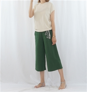 (Best; 3rd Reorder) Green String Wide Pants (F)