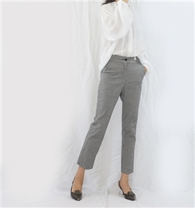 (Best; 3rd Reorder) Gingham Formal Pants (S)