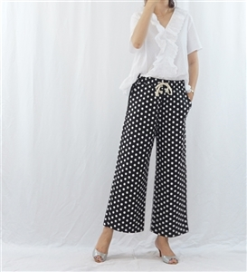 (Best; 2nd Reorder) Black Dot Pants