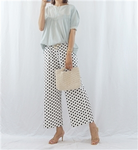(Best; 2nd Reorder) White Dot Pants