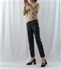(Best; Back-Order) Slim Fit Leather Pants (S/M/L) (will ship within 1~2 weeks)