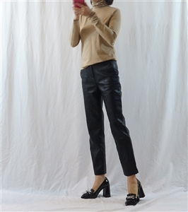 (~01/18) Slim Fit Leather Pants (S/M/L) (will ship within 1~2 weeks)