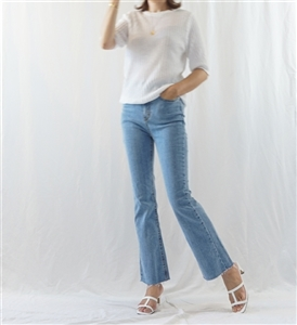 Boot Cut Jeans (S/M/L) (will ship within 1~2 weeks)