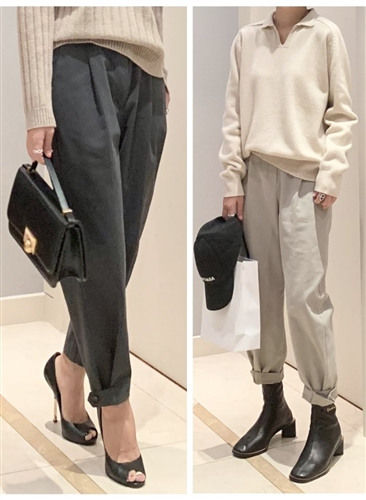 Stylish Cotton Pants (Charcoal/MintBeige/Beige) (will ship within 1~2 weeks)