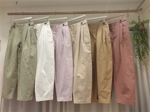Must Have Button Pants (Khaki/Ivory/Pink/Beige/DarkBeige/DarkPink) (will ship within 1~2 weeks)
