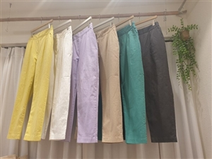 Spring Cotton Pants (Yellow/Ivory/Lilac/Beige/Green/Charcoal) (will ship within 1~2 weeks)