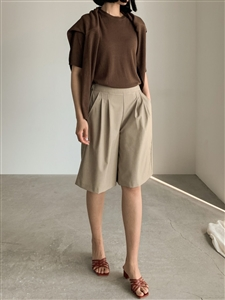 Summer Half Pants (LightBeige/DarkBeige/Black) (will ship within 1~2 weeks)