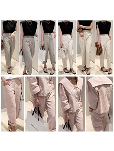 Acne Linen Baggy Pants (CreamBeige/MintKhaki/PastelPink) (will ship within 1~2 weeks)