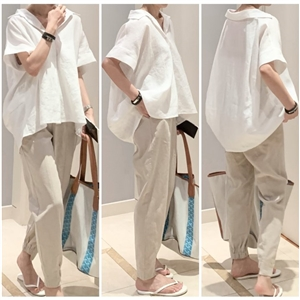 Balen Linen Jogger Pants (Ivory/Beige/Black) (will ship within 1~2 weeks)