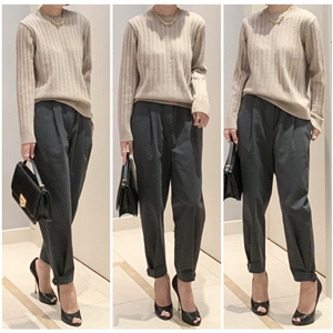 Vanessa Button Pants (MintKhaki/Beige/DeepGray) (will ship within 1~2 weeks)