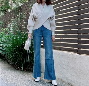 Wide Unique Cut Jeans (26) (will ship within 1~2 weeks)