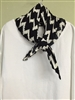 Black White Wrinkle Scarf