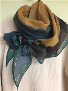 (Best; 4th Reorder) Green Luxury Line Scarf