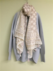(Pre-Order) Dot Tassel Scarf (will ship within 1~2 weeks)