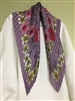 (Pre-Order) Purple Flower Pleated Scarf (will ship within 1~2 weeks)